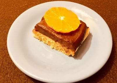 Narancsos-csokis kocka